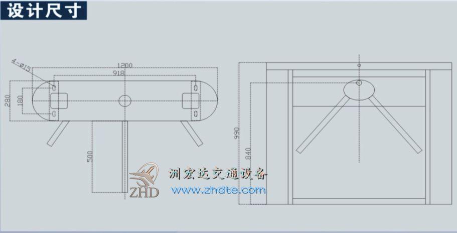 洲鸭游官网三辊闸CW303